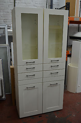 Vanilla glass display cabinet, kitchen; office; living room storage Delivery*