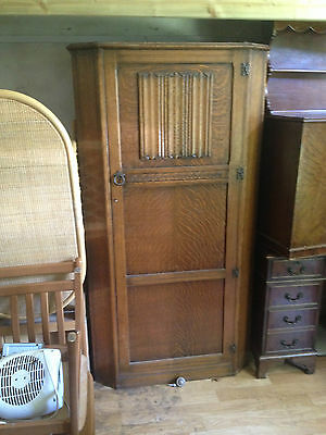 Antique hall Robe Oak Carved Wardrobe AY Crown Furniture Edwardian Art Deco