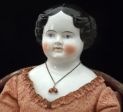 "Antique China Head Doll - 29"" - Very Large - Circa 1840"