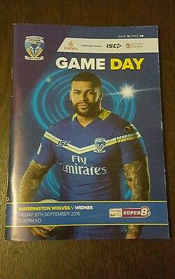 Warrington Wolves vs. Widnes Vikings - 9/9/2016