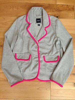 Gap Grey And Pink Trimmed Blazer For Girl - Size 12/13 - Great Condition