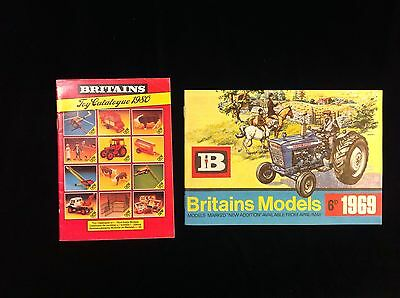Vintage 1969 And 1980 Britains Toy Catalogues Animals Soldiers