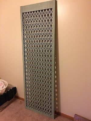 Vintage Original Wood Panel Partition Room Divider - Architectural Salvage NICE!