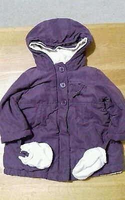 Verbaudet girls winter coat age 2