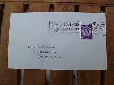 Southend Illuminations 1966 Post Mark Stamped Envelope