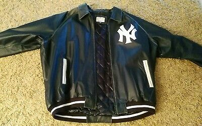 New York Yankees Leather Jacket MLB Original Size XXXL
