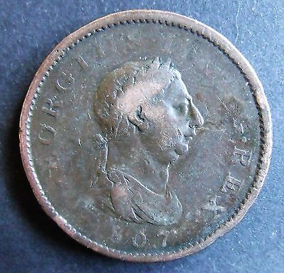 1807 GEORGE 111 LARGE PENNY,  british penny coin,          C0017