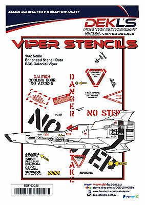 Decals  - Colonial Viper Enhanced Stencils - 1/32 Scale