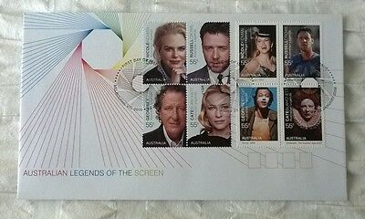 Australia Stamps, First Day Cover, Legends of the Screen - 22/1/2009