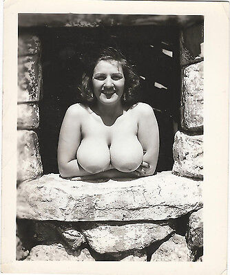 Kathy Suits Vintage Nude Photo Busty Lady Rare Original 1950s Gelatin Silver FE6