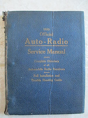 1933 Official Auto-Radio Service Manual Book by Hugo Gernsback