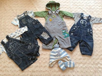 Lovely Next Baby Boys Dungaree Bundle Up to 3 Months