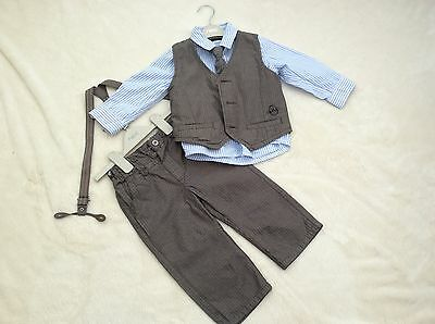 Next Signature Baby Boys 18-24 Months Shirt Tie Trouser And Waistcoat Set