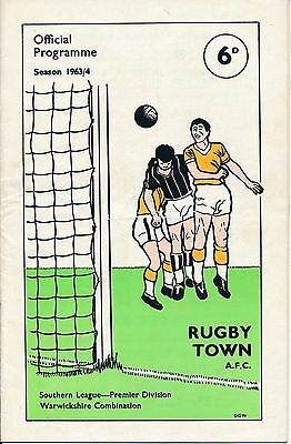 Rugby Town v Chelsea (Friendly) 1963
