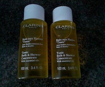 Brand new Clarins tonic bath and shower concentrate, 2 x 100ml
