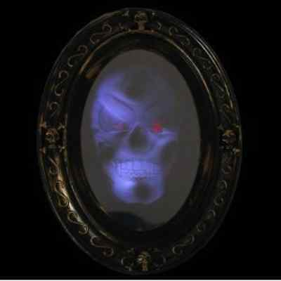 Motion Activated Haunted Mirror with Creepy Sound - Luminous Portrait Halloween