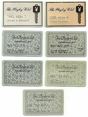 Playboy Membership Cards x 7 (different ones).
