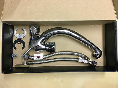 Chrome Kitchen Mixer Tap With Swivel Head