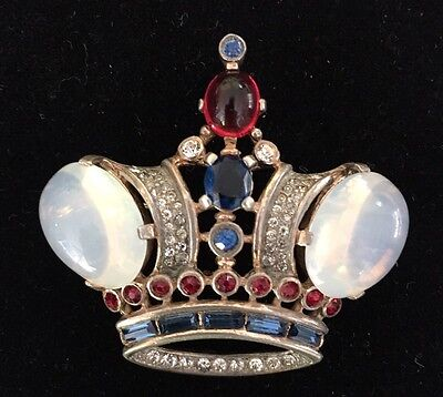 "Trifari 925 Sterling Large ""King"" Crown Pin Brooch - No Reserve"