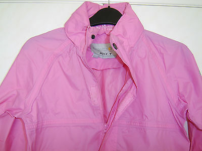 Regatta Girls Packway II Pink Hooded Jacket Includes Carrying Bag Age 7-8