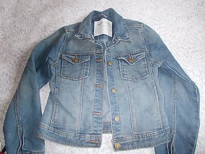 Girls Demin Jacket From Gap Age 12 - 13 In Excellent Condition