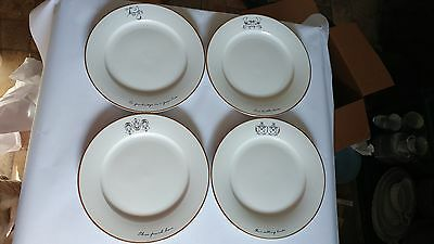 """Maxwell & Williams The 12 Days of Christmas Set of 4 10 3/4"""" Dinner Plates"""