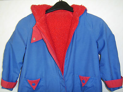 Czarina Royal Blue & Red Zipped Coat with Hood Age 5
