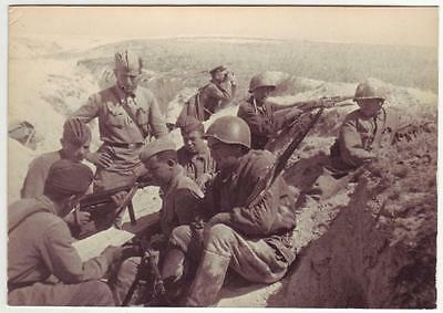 Russian Wwii Press Photo: Infantry Soldiers In The Trench - Combat Scene