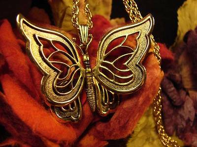~Beautiful Golden Butterfly Fairy Amulet & Spell Scroll~Fairy Magick Vessel~