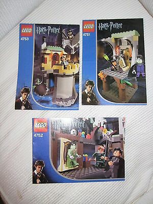 Lego Instruction Manuals Only Harry Potter 4751 4752 4753 Mint