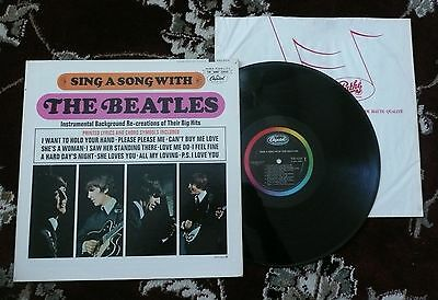 Beatles RARE 64 CANADIAN ' SING A SONG WITH THE BEATLES ' LP ON CAPITOL RECORDS!