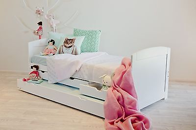 OXFORD - WHITE Single Trundle Guest Bed with Drawers Perfect Childrens Bed NEW