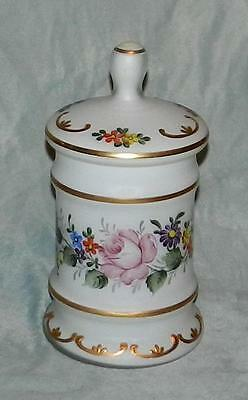 Vintage/antique French? Apothecary Jar Hand Painted Floral & Gold