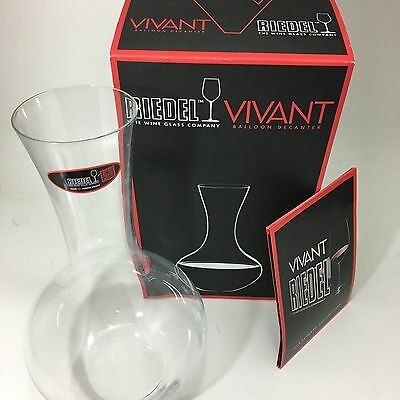 Riedel Vivant Balloon Decanter: Perfect Aeration for Your Favorite Wine! NEW!!