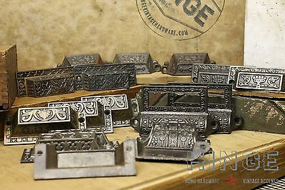 17 Mix and Match Eastlake Iron Drawer Pulls.  Item