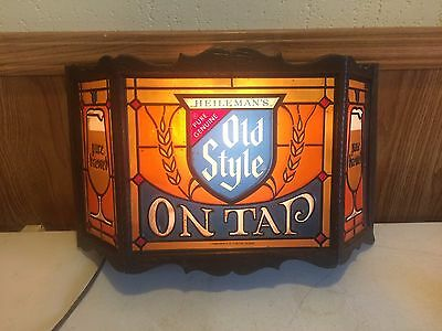 Rare Vintage Old Style On Tap Heilemans Beer Sign