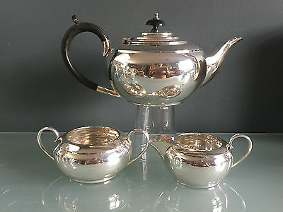 Frank Cobb Silverplate Teaset 3 Piece Plate Very Good Condition Dings To Creamer