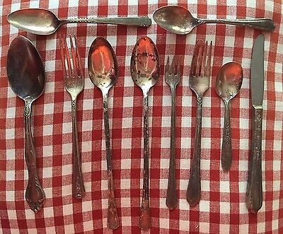 Antique flatware lot