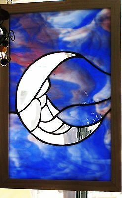 MOON stained glass window