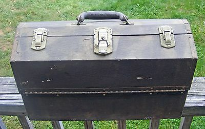 Vintage Kennedy Kits Tackle Box 1117-AL Cantilevered Aluminum Box