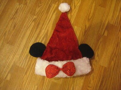Minnie Mouse Christmas Hat One Size Adult