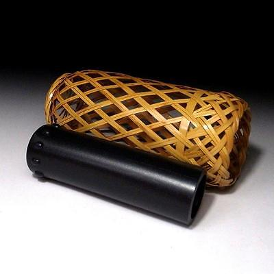 ZH6: Vintage Japanese Woven Bamboo Vase for Hanging, Tea ceremony