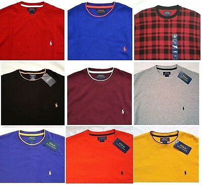 NWT Polo Ralph Lauren Men's S M L XL XXL Cotton Thermal Long Sleeve Sweat Shirt