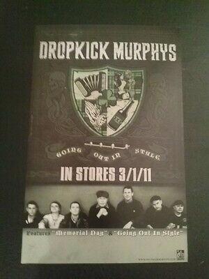 Dropkick Murphys - Going Out in Style poster - 11x17 - punk Boston