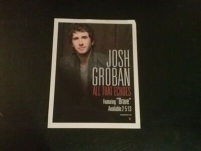Josh Groban poster - All that Echos - Brave free shipping rare collectible nice