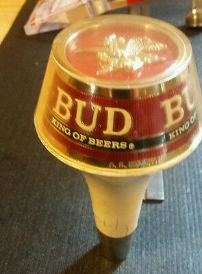Lot of 2 Budweiser tap handles and 1 spout