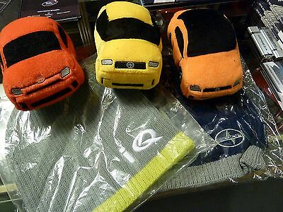 Scion NYIAS Auto Show Press Swag Lot  - Plush cars and knit hats - Cool!