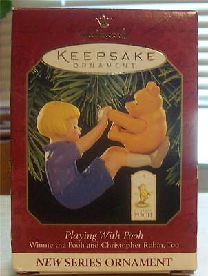 """Hallmark 1999  """"Playing With Pooh"""" Winnie the Pooh Orn. New in  Box"""