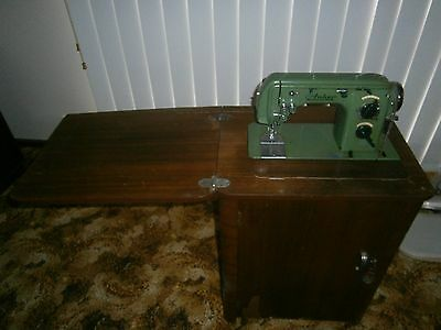 Vintage Retro Sewing Machine and Cabinet
