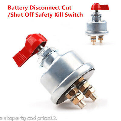 Car Racing Master Battery Quick Disconnect Cut/Shut Off Safety Kill Switch 2Post